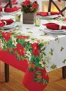 Benson Mills Gloria Printed Herringbone Christmas Tablecloth (52