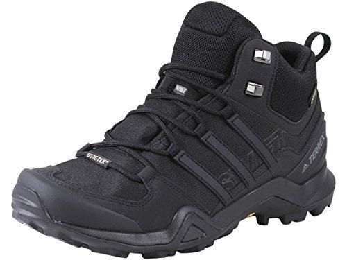 adidas Men's Terrex Swift R2 Mid Gore-tex Hiking Boot, Black/Black/Black, 11