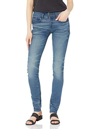 G-STAR RAW Damen Jeans Lynn Mid Waist Skinny Jeans, Blau (Medium Aged 6550-071), 26W / 30L