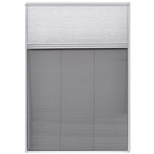 vidaXL Plissee Aluminium 160x80cm Insektenschutz Fliegengitter Dachfenster