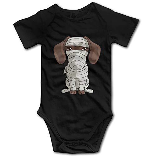 Promini Mono de algodón de manga corta para bebé con diseño de perro salchicha de 12 a 18 meses, ZI11224