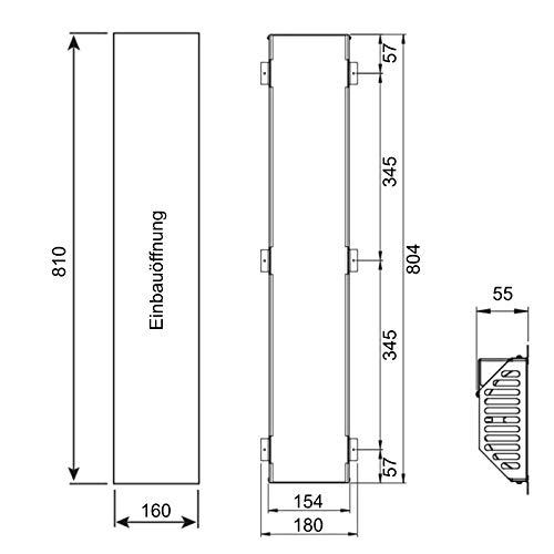 Infrarotstrahler GKR-AR Glaskeramik RotLicht  Sauna inkl Abdeckrahmen Tiefenwärmestrahler Bild 4*