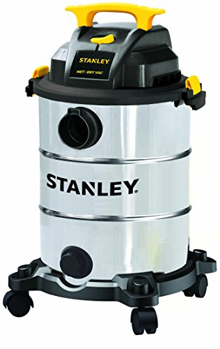 Stanley Wet/Dry Vac Cleaner 8 Gallon 4 HP Peak Shop Vacuum with Attachment 16 Feet Cleaning Range,Stainless Steel Tank SL18117