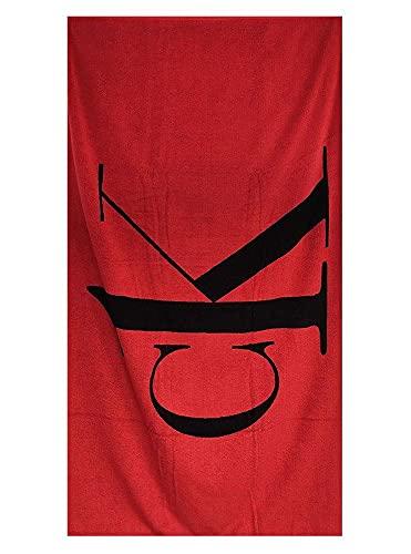Calvin Klein Towel KU0KU00079 - Toalla de playa o piscina de rizo reversible de 170 x 90 cm, de algodón Xnd Fierce Red Talla única