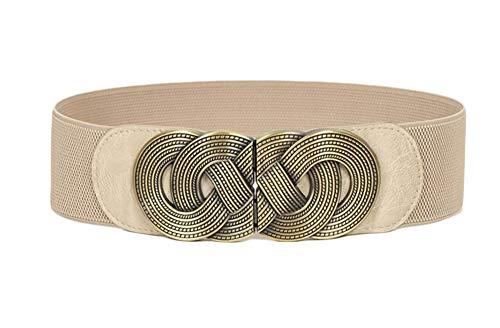 Oyccen Vintage Cinturón Ancho Vestidos Decorativa Cinturones de Mujer Elásticos de Cincha
