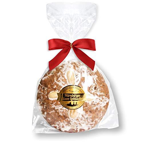 Nürnberger Elisenlebkuchen, einzelverpackt- 80g - Zucker Glasur - Premium Qualität - Weich & Saftig! - Elisen Lebkuchen nach Original Nürnberger Rezept Lebkuchenwelt