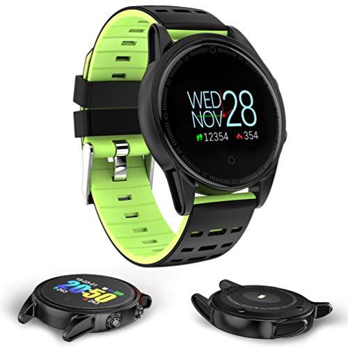 UKCOCO 1 Stück Bluetooth Smart Sportuhr mit GPS Tacho Stoppuhr Pulsmesser Kamera Smartwatch Activity Tracker Rot