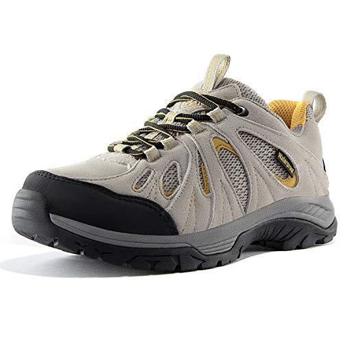 Wantdo Scarpe da Escursionismo Stivali da Trekking Scamosciata Casual alla Moda Antiscivolo Stivali Traspiranti da Montagna Multi-Sport Donna Grigio e Arancione 39