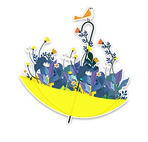 Wandtattoos Wandbilderfun Regenschirm Blumendekoration Auto Aufkleber Stoßstange Fenster Personalisierte Fahrzeug Aufkleber Zubehör 15.5 X 16.3 Cm