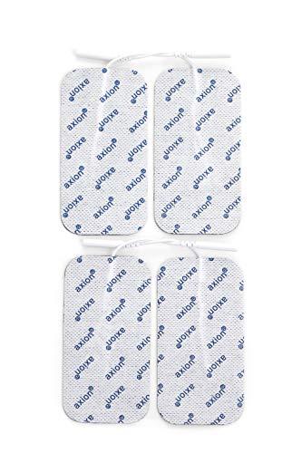 4 große axion Elektroden-Pads, 10x5 cm - EMS-Training und TENS-Schmerztherapie