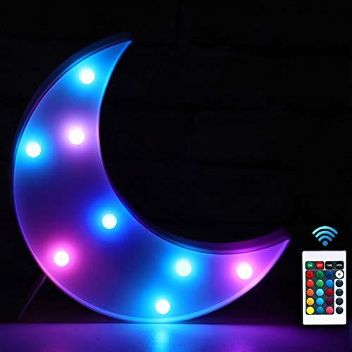 Pooqla - Luces LED de colores para fiestas con mando a distancia, luces de carpa para fiestas - Luces de fiesta - Decoración para el hogar dormitorio - Multicolor