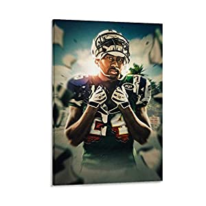 DFGHD Physical Education Darrelle Revis New York Jets American Football Poster Poster Decorative Painting Canvas Wall Art Living Room Posters Bedroom Painting 16x24inch(40x60cm)