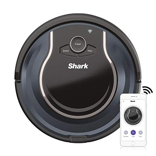 Shark ION Robot Vacuum RV761 with Wi-Fi and Voice Control, 0.5 Quarts, in Black and Navy blue
