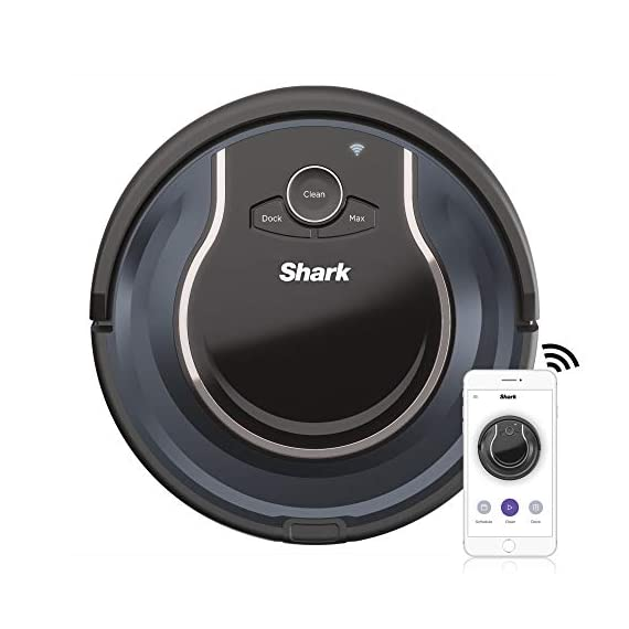 Shark ion with wi-fi robot vacuum qt 1 three brush types. One powerful clean: tri-brush system combines side brushes, channel brushes, and a multi-surface brushroll to handle all debris on all surfaces. Completely integrated in your home: shark ion robot senses ledges and stairs, avoids damaging furniture and walls, and maneuvers around potential stuck situations, truly knowing your home. Clean from your phone: sharkclean app lets you start and stop cleaning and schedule your robot to clean whenever you want.