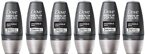 Dove Men + Pflege Antitranspirant Deodorant - Invisible Dry Roll-On (50 ml) - Packung mit 6