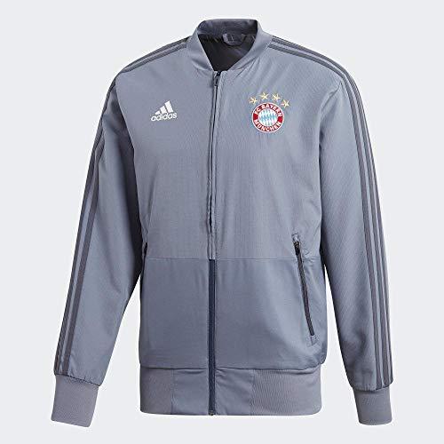 adidas 18/19 FC Bayern Chaqueta, Hombre, Gris (acenat), M
