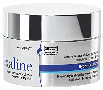 Rexaline - Hydra-Dose Rich - Hyper-Hydrating Rejuvenating Cream - Face moisturizer, anti wrinkle and anti aging cream with Hyaluronic Acid - Soothing and nourishing - Facial care - Dry skin - 50 ml from Rexaline