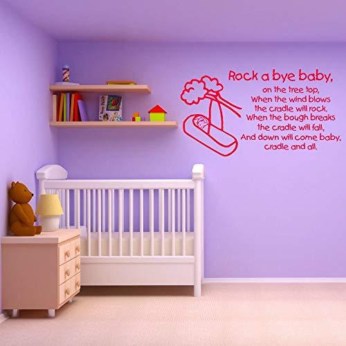 décoration de la Maison Accessoires Stickers muraux Rock Bye Enfants Sticker Mural Mural