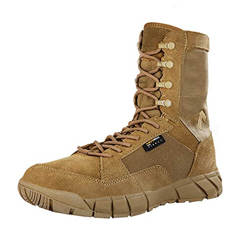 PAVEHAWK Men's 8 inch Tactical Boots Outdoor Casual Lightweight Military Boots for Hiking Work Combat