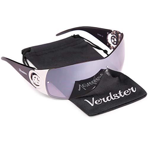 Verdster Gafas de Sol para Mujer Cosmo – Gafas de Sol Grandes para Mujer de Visera con Escudo - Montura Grandes Envolvente con Protección UV400