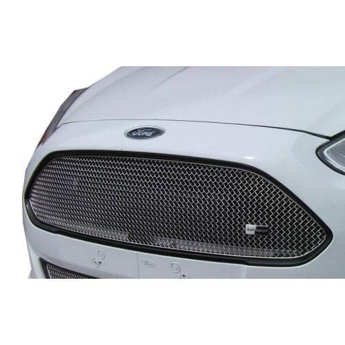 Zunsport Compatible con Ford Fiesta Zetec S - Parrilla Superior - Acabado Plata (De 2013 a...
