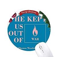 選挙のスローガン クリスマスツリーの滑り止めゴム形のマウスパッド