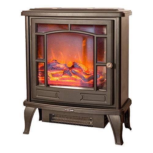 Noble Flame Dublin – klassischer Elektrokamin Standkamin Kaminofen – modernes LED Feuerambiente inkl. Heizfunktion – Feuerraum 32 cm