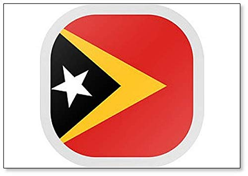 Kühlschrankmagnet, Motiv: Flagge Osttimor, quadratisch