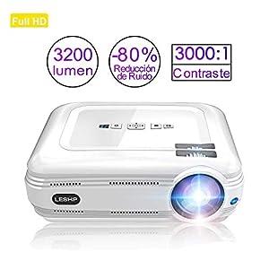 Pico Proyector, Mini proyector portátil AKASO 1080P HD DLP LED 50 ...