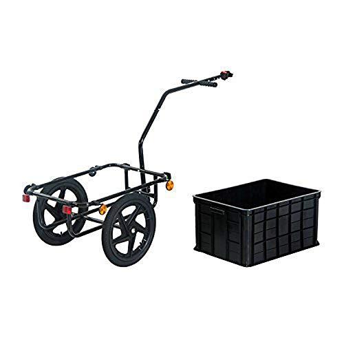 QWERTOUY 16 inch luchtfietskar met koffer, gesloten fietskar met grote capaciteit, voor huisdieren