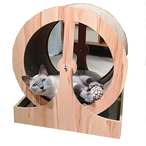 TWW Katzenkratzer Holzrad Neue Katze Katzenstreu Katze Wellpappe Haustier Katze Spielzeug Kratzer Gewichtsverlust Kratzer Laufband
