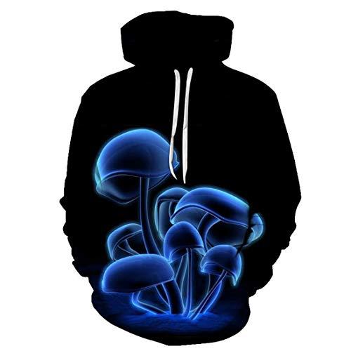 3D-Print Fleece Pullover Hoodies Sweatshirt mit Kangaroo Pocket Unisex 3D Hoodies für lustige bedruckte Pullover Hooded Sweatshirt Taschen Herren Hoodie 3D Bunte Hoody Sweatshirts Langarmpullover