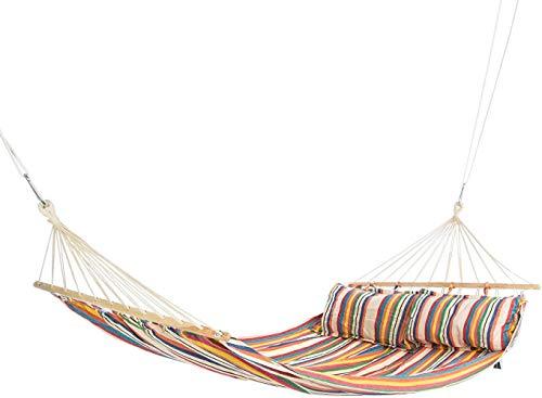 Hamaca de la serie Bali de Pjy, para 2 personas, aprox. 220 x 160 cm, resistente y soporta hasta 200 kg, Sunrise