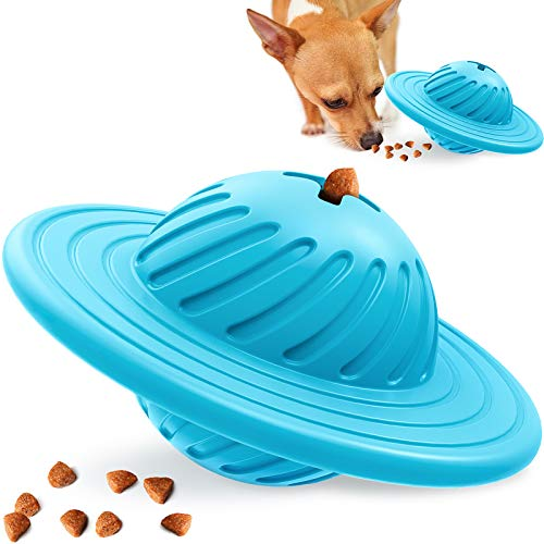 interactive dog toys Interactive Dog Toy IQ Ball Puzzle Toy SlowFeeder for Medium Large Dogs Playing Chasing Chewing, EnrichmentToysforDogFoodTreat Dispenser, Natural Tough Rubber Dog Mind Stimulating Chew Toys