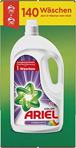 Ariel Colorwaschmittel Flüssig, 7,7l– 2er Pack (2 x 70 Waschladungen)