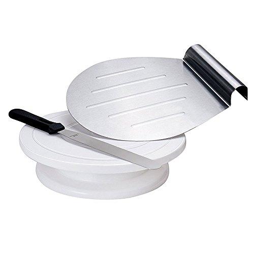 GA Homefavor Bandejas para Tartas Decoración de Pasteles de 28 cm Soporte Rotativo para...