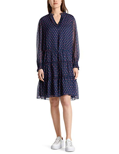 Marc Cain Additions Dress Vestito, Multicolore (Midnight Blue 395), 46 (Taglia Produttore: 4) Donna