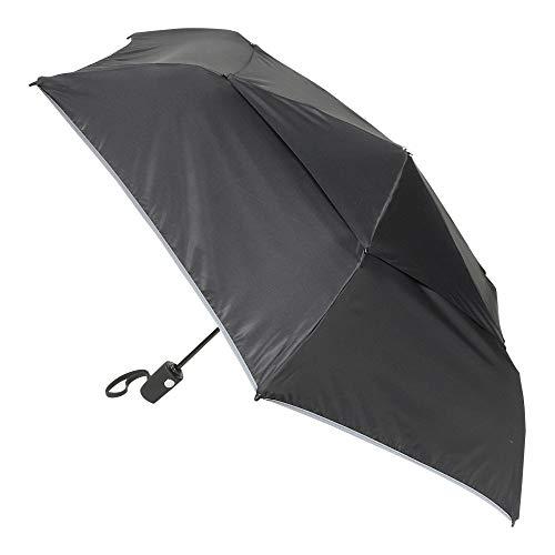 TUMI - Auto Close Umbrella - Windproof Compact Travel Umbrella - Medium - Black