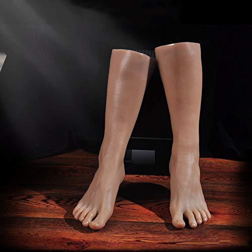 CZA Silikon-Mannequin Fuß für Männer, Simulation Realistische 1: 1 Fuß Modell für Schuhe Schuhe, Kunst, Skizzen, Fotozubehör, Spielzeug Fetisch,1 Pair