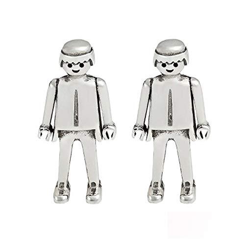 Playmobil-Ohrstecker für Jungen, Sterlingsilber, offizielles Produkt.