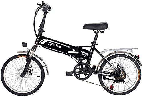 MQJ la Bicicleta Eléctrica de 20 Pulgadas de 20 Pulgadas para Adultos, Bicicleta Eléctrica Plegable/la Bicicleta Eléctrica de Viaje con Batería de 48V 10.5/12.5Ah, Y Engranajes Profesionales de 7
