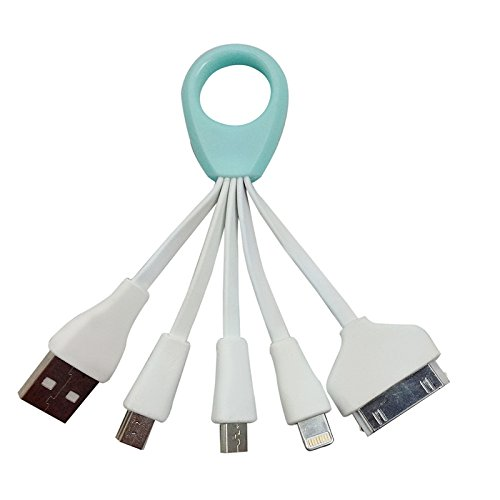 Small Ring Delayed Four data lines for iPhone 5 / 5C / 5S / 6 / 6 Plus Samsung NOTE 3/S5/Micro USB iPad Mini iPod Touch 5th Air