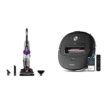 Eureka PowerSpeed Bagless Upright Vacuum Cleaner Lite w/Groove Robot Vacuum