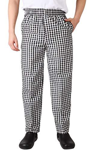 Nanxson Unisx Kochhose Arbeitshose Chefhose Herren Damen Hotel Hose Uniform Berufsbekleidung mit elastischer Taille CFM2002
