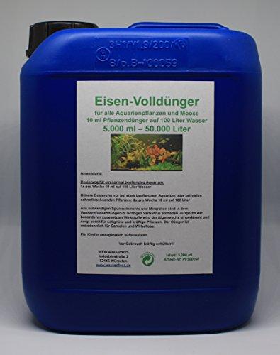 5 Liter Kanister Eisen-Volldünger für bis zu 50.000 Liter Wasser - für alle Aquarien-Pflanzen
