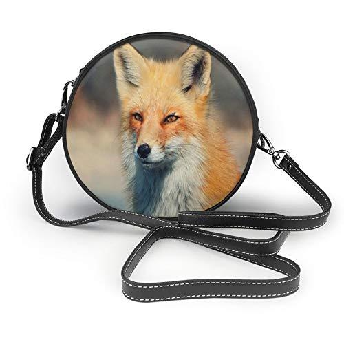 Cool Fox - Bolso bandolera para mujer, diseño redondo