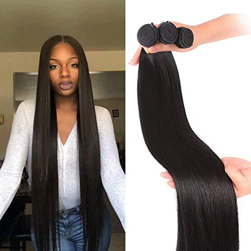 Brazilian Straight Hair Bundles 28 30 32 Inch 12A Virgin Remy Straight Human Hair Bundles 100% Unprocessed Remy Hair Bundles Natural Color