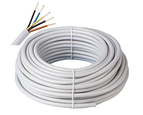 Prysmian Kabelring NYM-J 5x1,5 300/500V, 50m, 5-adrige Mantelleitung, Installationskabel für den Einsatz im Mauerwerk/Beton, Stromkabel nach DIN Norm, Elektroleitung, elektrische Leitung