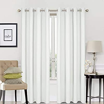 EASELAND Blackout Curtains 2 Panels Set Room Drapes Thermal Insulated Solid Grommets Window Treatment Pair for Bedroom, Nursery, Living Room