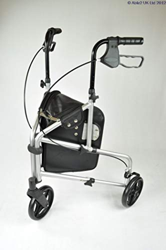 Able2 PR30275-SL Rollator mit 3 Rädern, Aluminium, silberfarben